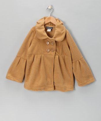 Camel Bell-Sleeve Polar Fleece Jacket - Girls