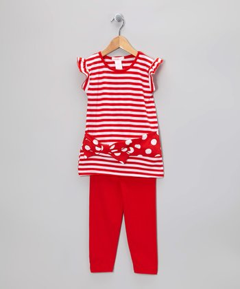 Red Stripe Tunic & Leggings - Infant