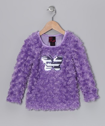 Purple Butterfly Top - Girls
