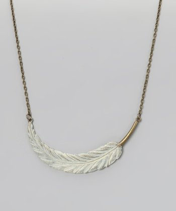 Vanilla Light as a Feather Necklace