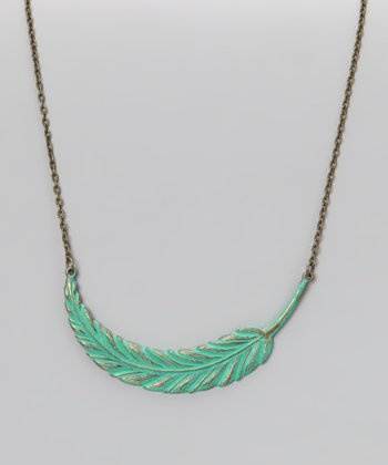 Spearmint Light as a Feather Necklace