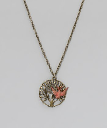 Coral Fly Free Pendant Necklace