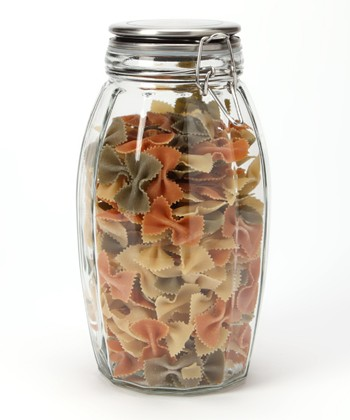 84-Oz. Lock-Tight Faceted Jar