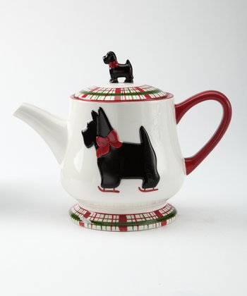 Global Design Scottie Plaid Teapot