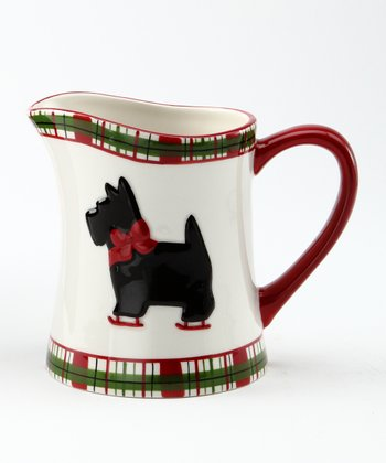 Scottie Plaid Cream Pitcher