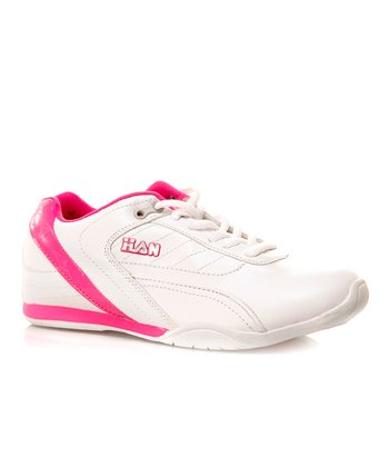 White & Hot Pink Sneaker
