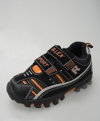Black & Orange K605 Light-Up Sneaker