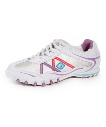 White & Purple K620 Sneaker