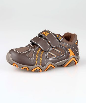 Brown & Orange Double-Strap Sneaker