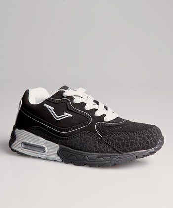 Black & Silver Running Shoe