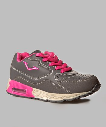 Gray & Hot Pink Running Shoe