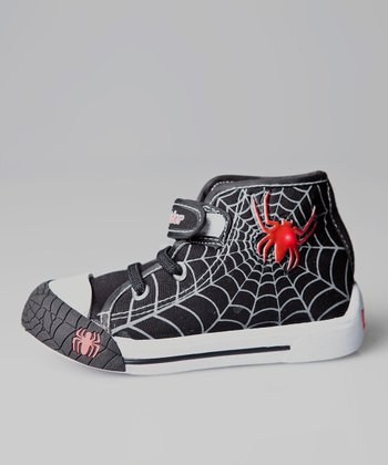Black Spider Light-Up Hi-Top Sneaker