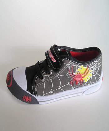 Gray Web Light-Up Sneaker - Toddler