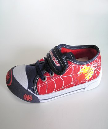 Red Web Light-Up Sneaker - Toddler