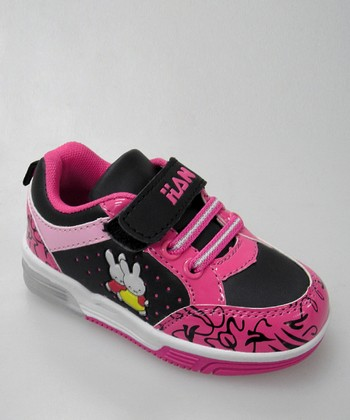 Black & Hot Pink Bunny Light-Up Sneaker