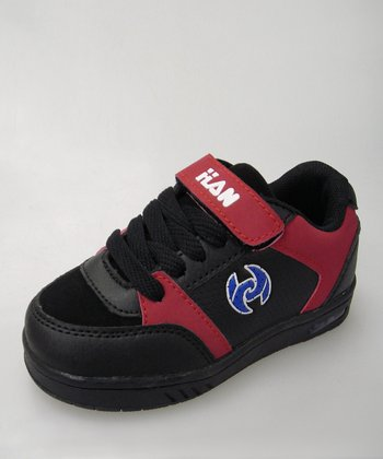 Black & Red Light-Up Sneaker - Toddler
