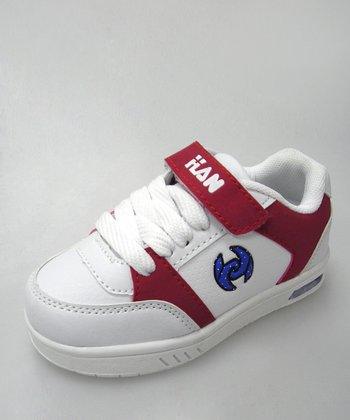 White & Red Light-Up Sneaker