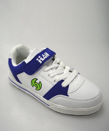 White & Royal Blue Sneaker