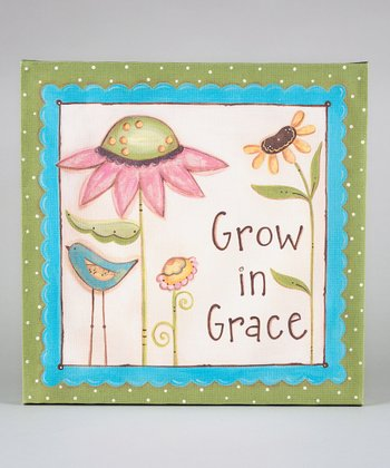'Grow in Grace' Canvas Art