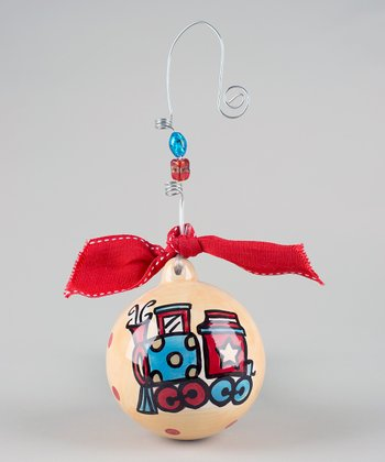Train Ball Personalized Ornament