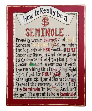 Florida State 'How To' Canvas