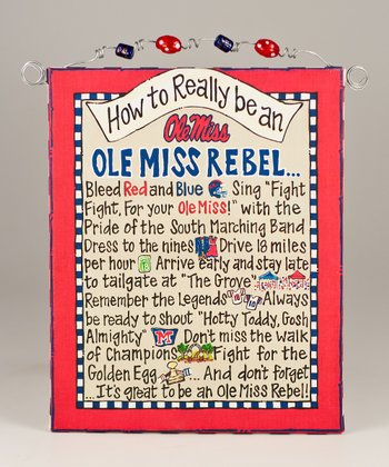Mississippi 'How To' Beaded Canvas