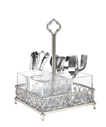 Pewter Flatware Caddy