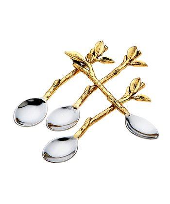Leaf Dessert Spoon - Set of Four