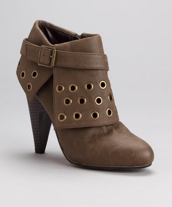 Suede Brown Blockbuster Bootie