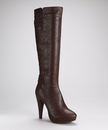 Brown Fashion News Boot