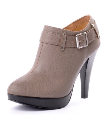 Taupe Fashion News Bootie