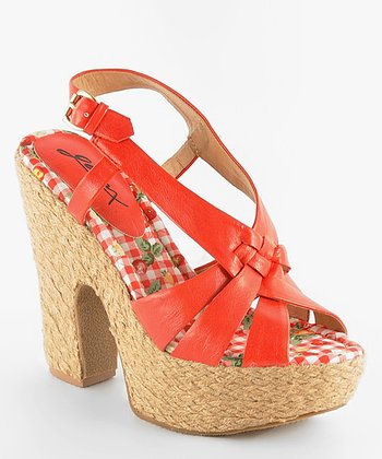 Red Jackie O 12 Sandal