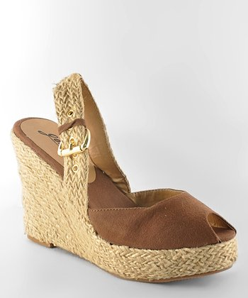 Brown Moki 08 Peep-Toe Wedge