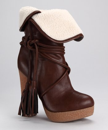Brown Tassel Selma Boot