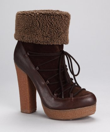 Brown Fleece Selma Boot