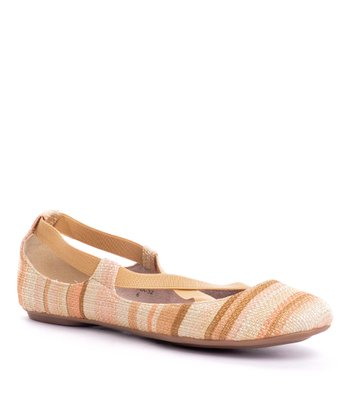 Natural Stripe Sienna Flat