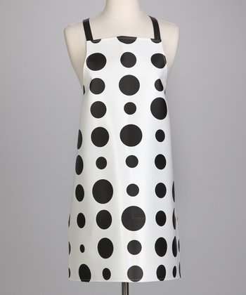 Black & White Polka Dot Apron