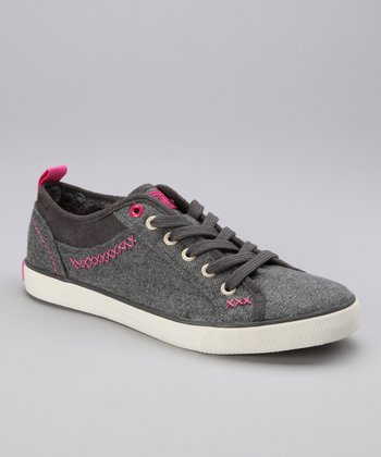 Gray & Pink Stitch Bryce Sneaker - Women