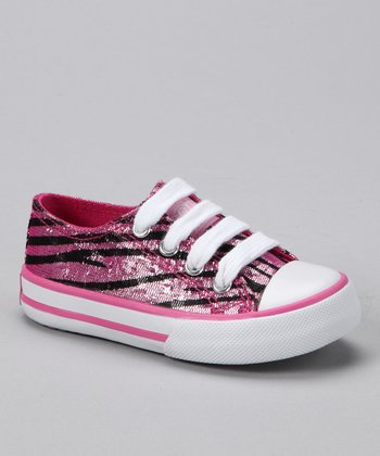 Hot Pink & Black Artesia Sneaker - Kids