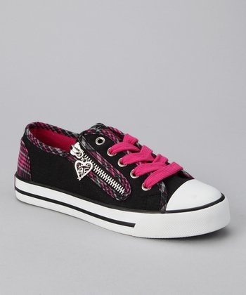 Hot Pink Elwood Sneaker - Kids