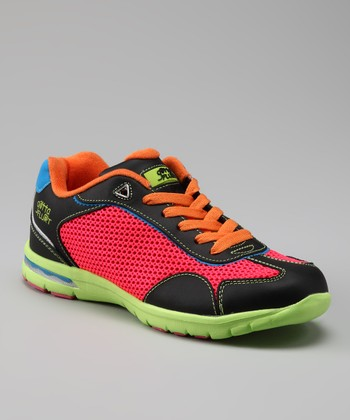 Black & Neon Holland Sneaker - Women