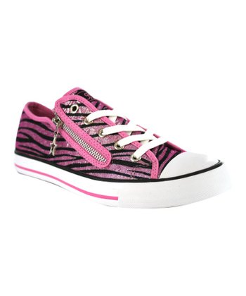 Hot Pink Jungle Sneaker - Kids