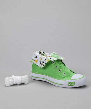 Lime Hi-Top Sneaker - Girls