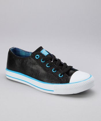 Black & Blue Twisty Hilo Sneaker - Women