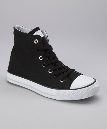 Black Twisty Zoo Hi-Top Sneaker - Women
