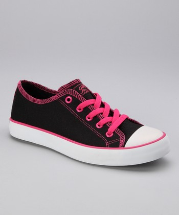 Black Twisty Jersey Sneaker - Women