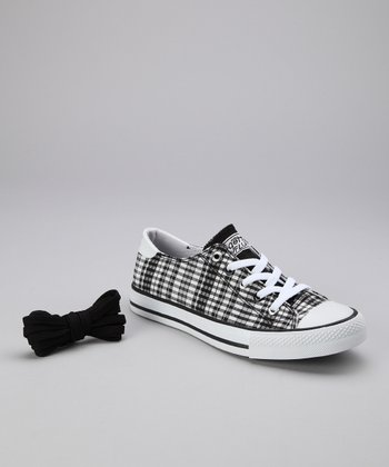 Black Twisty Plaid Sneaker - Women