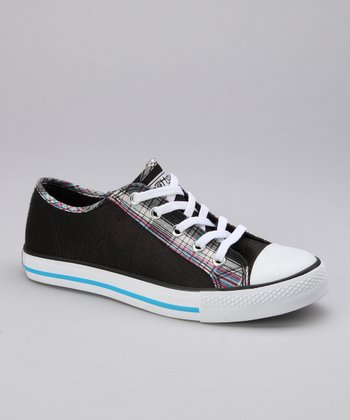 Black Twisty Yale Sneaker - Women