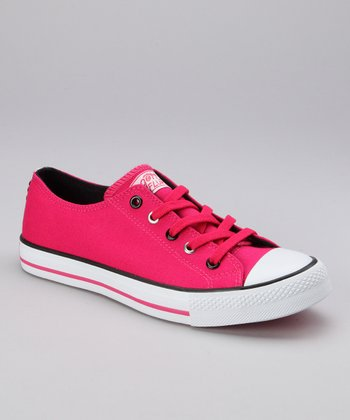 Hot Pink Twisty Zoo Sneaker - Women