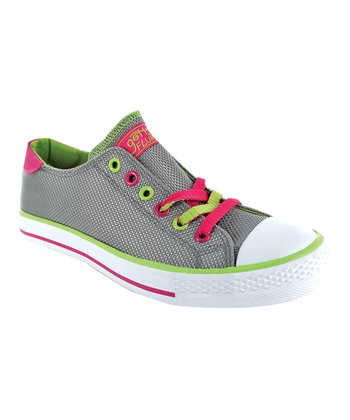 Gray Twist Me Diana Sneaker - Women